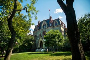 Exterior photo of College Hall on Penn's Campus
