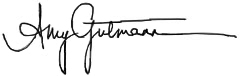 Amy Gutmann's signature